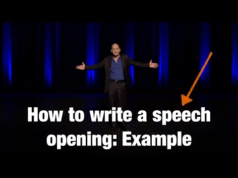 How To Write Ch Opening Example