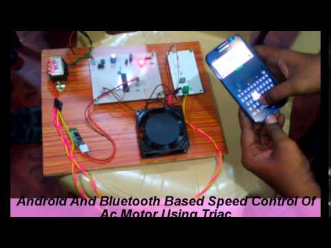Android and bluetooth based speed control of ac motor for Triac ac motor speed control