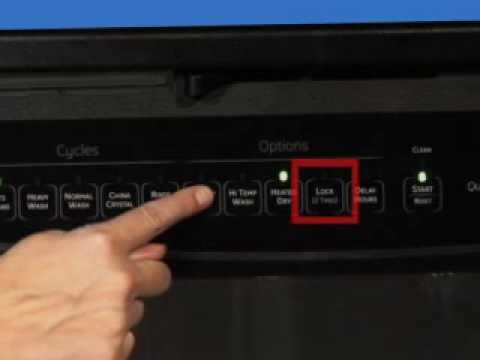 Dishwasher Controls  Lock and Unlock  YouTube