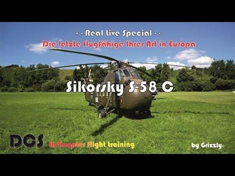 Die Lezte fliegende Sikorsky S-58 C in Europa