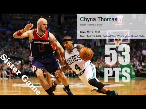 Reminder Isaiah Thomas owns the title for highest scoring output in the playoffs among active players with 53 (LeBron, Russ: 51, Vince, KD, Dame: 50)