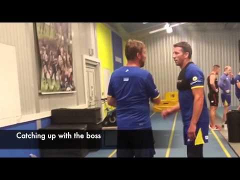Kurt Gidley's 1st training session