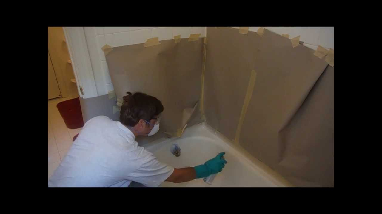Re-enamel bathtub using the Homax kit - Review - YouTube