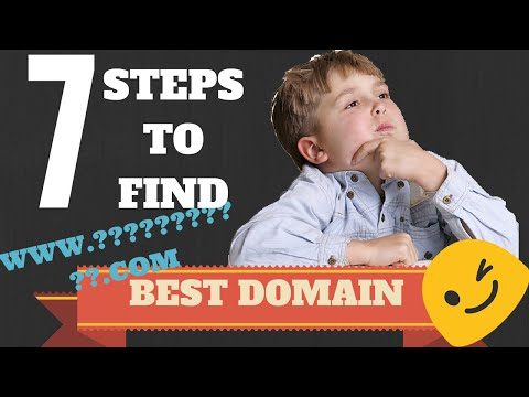 7 Steps to find BEST DOMAIN name for your website/blog/brand