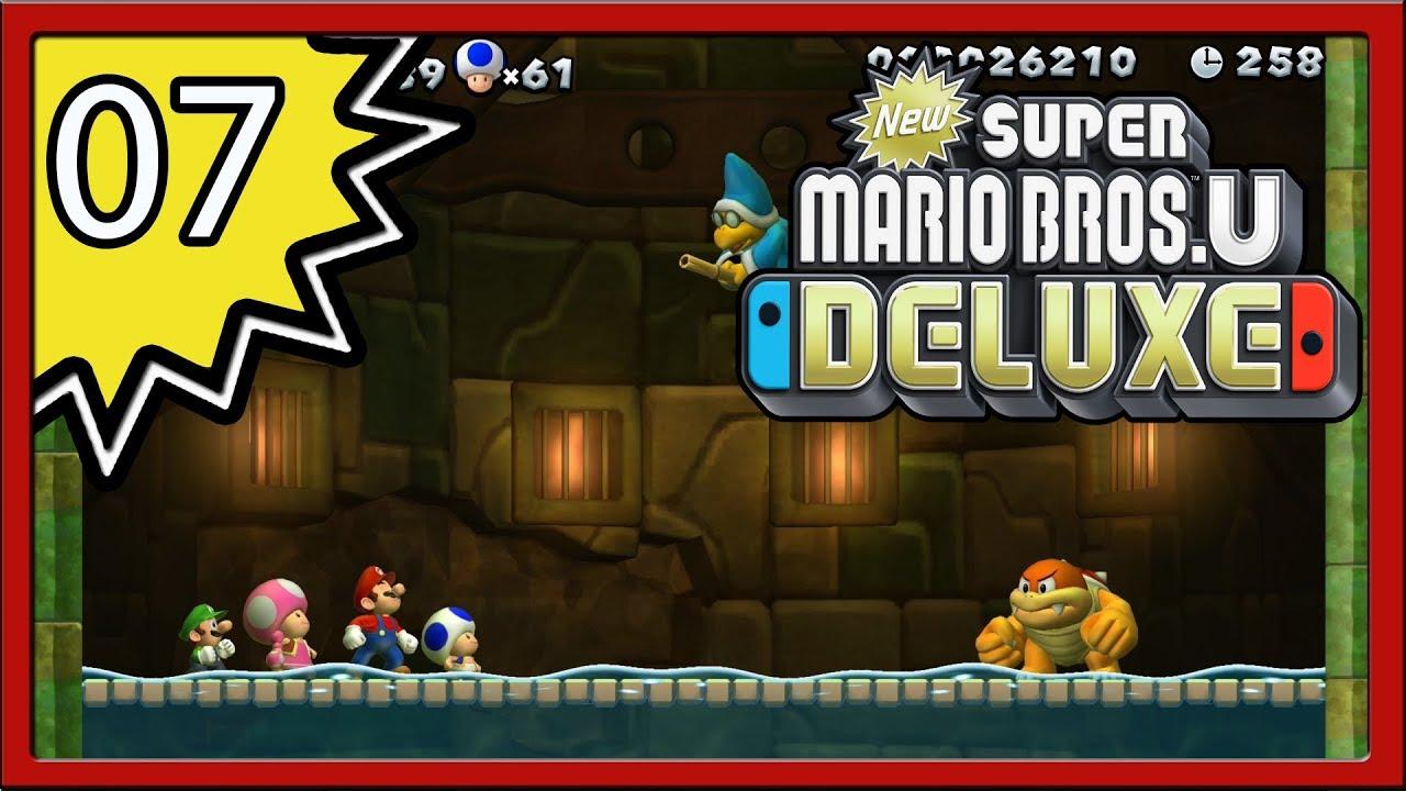 New Super Mario Bros U Deluxe Part 7 4 Player Youtube