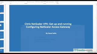 14-Citrix NetScaler VPX Series:Configuring NetScaler Access Gateway