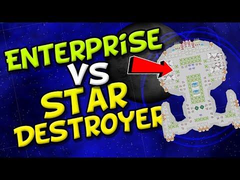 ENTERPRISE vs STAR DESTROYER! - Cosmoteer Star Wars & Death Star - Game of Space Battles!