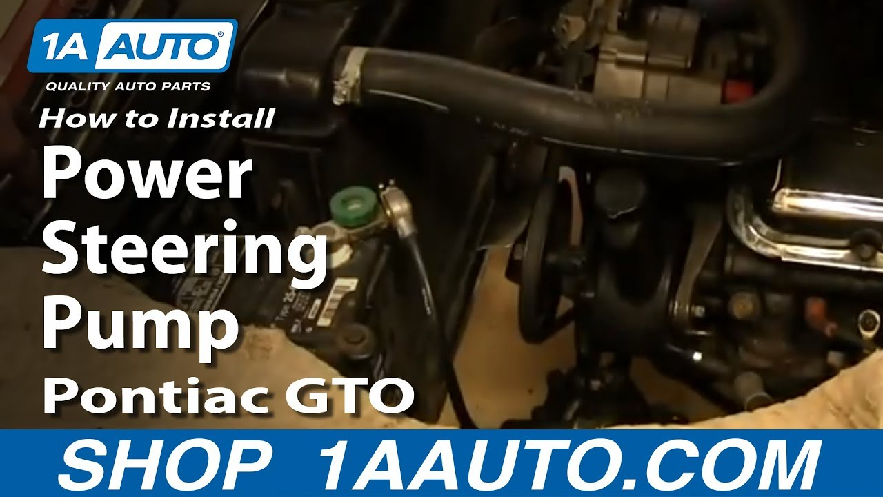 how to install replace power steering pump 1964 67 pontiac gto youtube rh youtube com