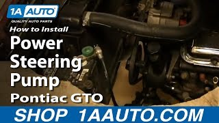 How To Install Replace Power Steering Pump 1964-67 Pontiac GTO