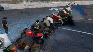 Grand Theft Auto V Online (XB1) | Street Bike Meet Pt.2 | Sanchez 2, Cruise, Bloopers, Drags & More
