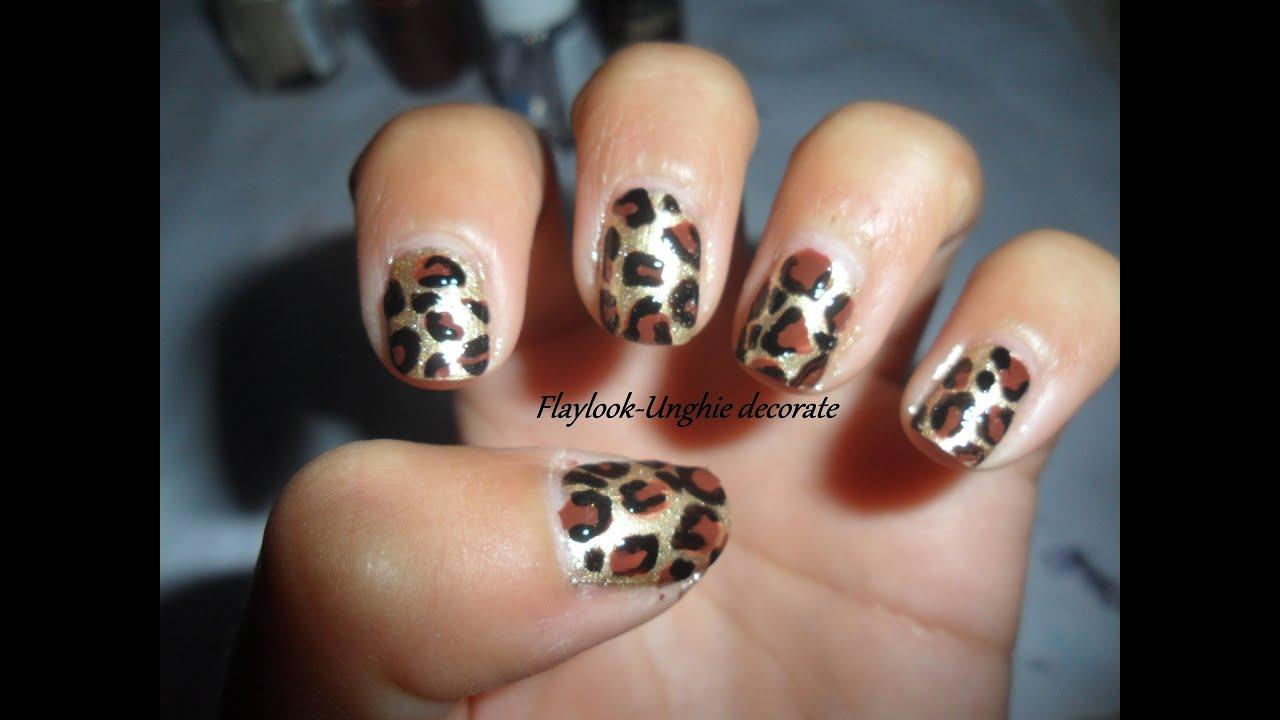 Estremamente Video tutorial #26 nail art leopardata SEMPLICISSIMA(adatta anche  WU02