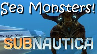 Subnautica Monsters Update!  New Reaper Leviathan and Sea Emperor!