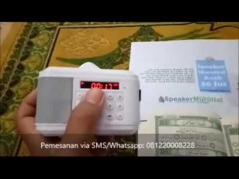 Speaker Murottal Anak 30 Juz - Pemesanan SMS / WA ke 081220008228