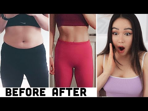 Realistic Before After Results & Fitness Journeys | #ChloeTingChallenge