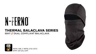 Ergodyne 6847 Power Grid Fleece Balaclava Face Mask Meets 2 FR Standards and Blocks All the Elements