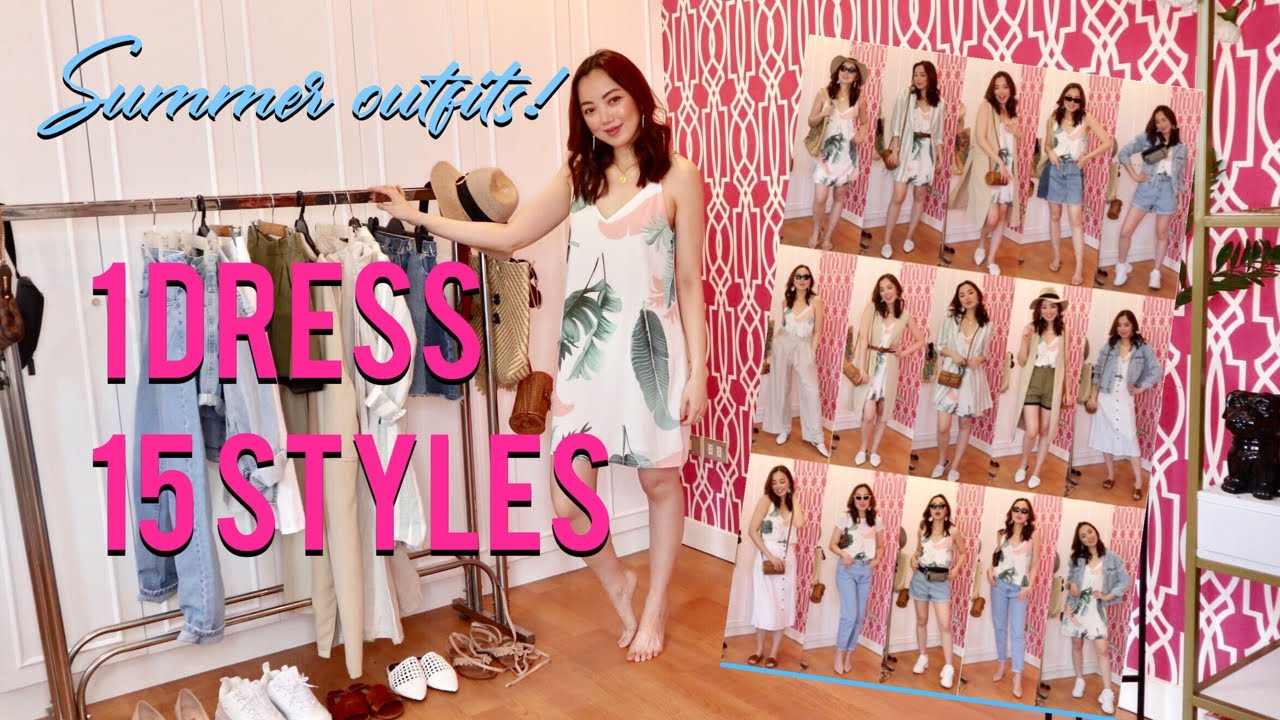How To Style 1 Dress in 15 Ways (Summer Outfit ideas)