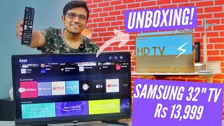 Samsung 32 inch HD Ready LED Smart TV Unboxing Wondertainment Series UA32T4340AKXXL
