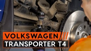How to change Brake caliper bracket TRANSPORTER IV Bus (70XB, 70XC, 7DB, 7DW) - step-by-step video manual