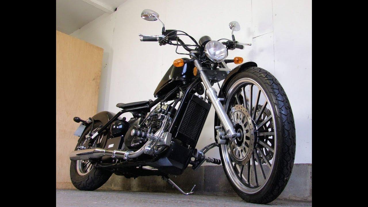Old School Motorcycles >> AJS Bobber Chopper 125 DD125E-9 2012 12 1.2K FSH £1 Start (UK Delivery £109+VAT) :) - YouTube