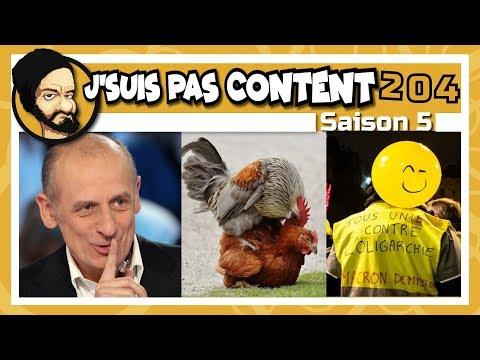J'SUIS PAS CONTENT ! #204 : Apathie fatigué, Gallinacés déters & Macron excusé ! [Feat. Code Rno]
