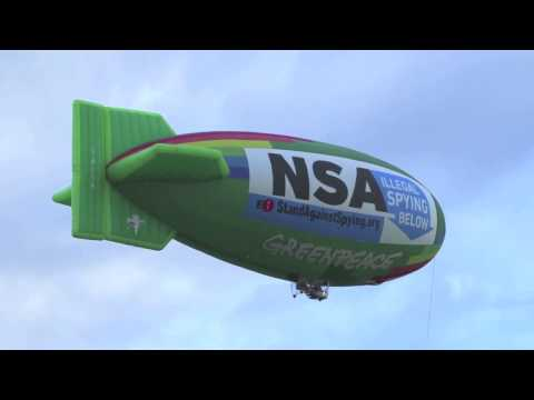 Airship Over the NSA Data Center