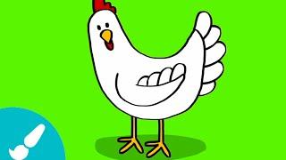 Cómo dibujar una gallina I How to draw a hen