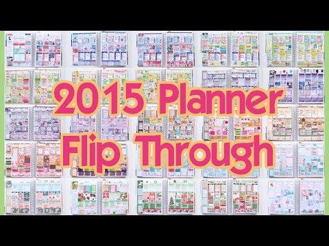 My Year in Planning // 2015 Planner Flip Through