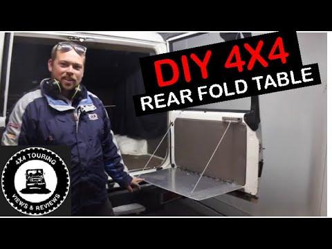 DIY: Fold down table for Toyota landcruiser 4x4
