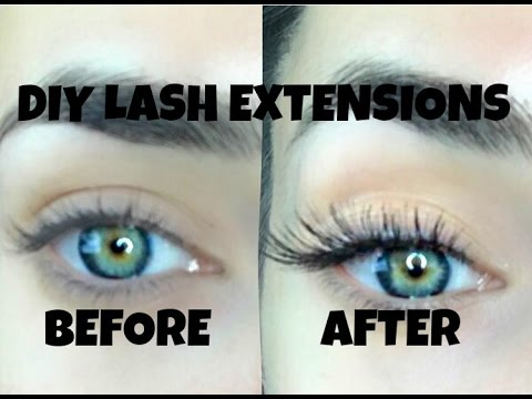 8fdd842c857 DIY LASH EXTENSIONS - LASTS UP TO 4 WEEKS - YouTube