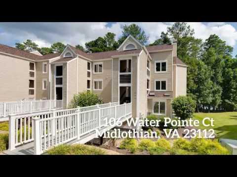MAINTENANCE FREE WATERFRONT LIVING! - 106 Water Pointe Ct Midlothian VA 23112