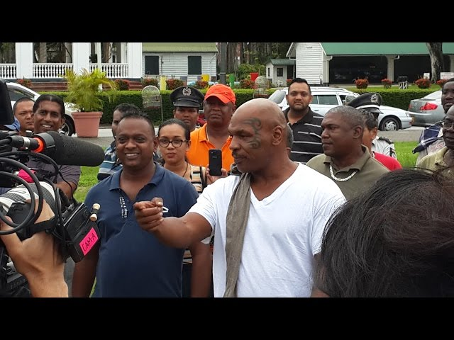 Mike Tyson in Suriname