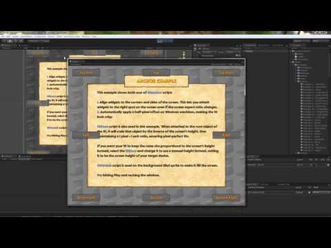 unity 3d how to create start menu