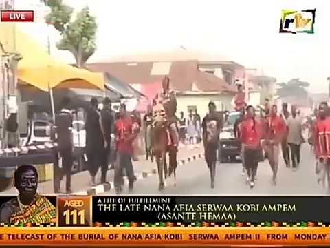 Nana Kwaku Bonsam Kwaku Bonsam Arrives At Otumfuo Mothers Funeral With Horse