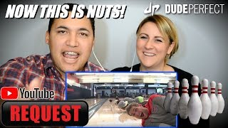 Dude Perfect - Bowling Trick Shots  COUPLES REACTION!!!