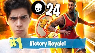 24th KILLS and BOUGHT the BASKETBALL PLAYER's SKIN-Fortnite (Battle Royale)