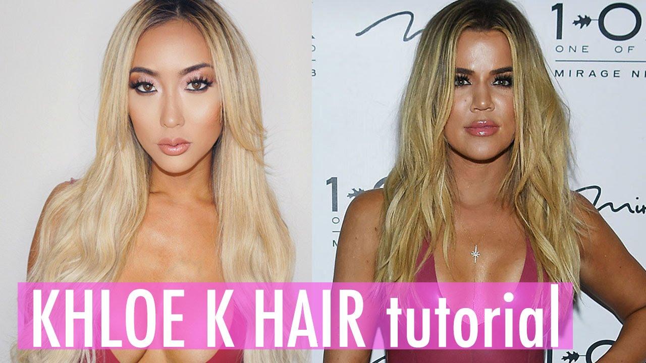 Khloe Kardashian Hair Tutorial Ft Bellamihair Arikasato Youtube