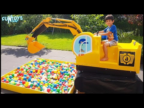 Thumbnail: Learn Colors with Baby and Balls | Excavator Truck Ball Pit Balls Playing for Children and Toddlers