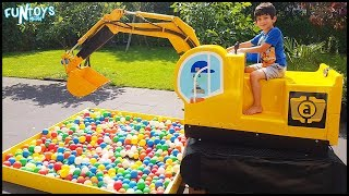 Excavator Truck with Ball Pit Balls Pretend Play