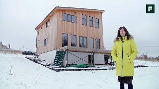 Скромный снаружи, необычный внутри: скандинавский дом на подмосковных просторах