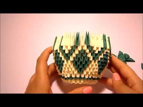 Схемы вазы из модулей оригами