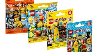 Розпакування Lego Minifigures (15 серія,2 серія The Simpsons,16 серія 17 серія)
