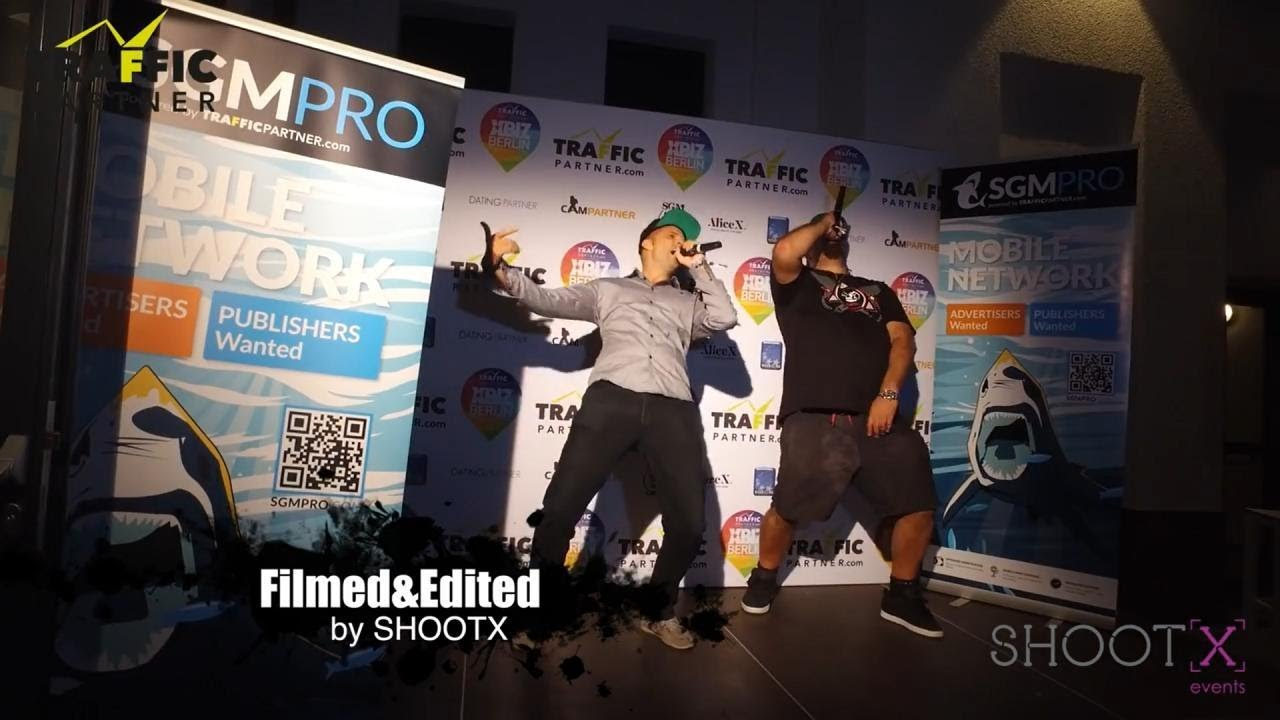 TrafficPartner at the XBIZ Berlin 2016 with the Captains Karaoke show, seminars and speed neworking