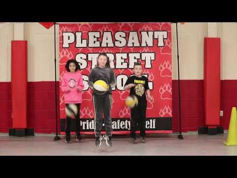 Basketball Dance, PE with Mrs. G, Pleasant Street School