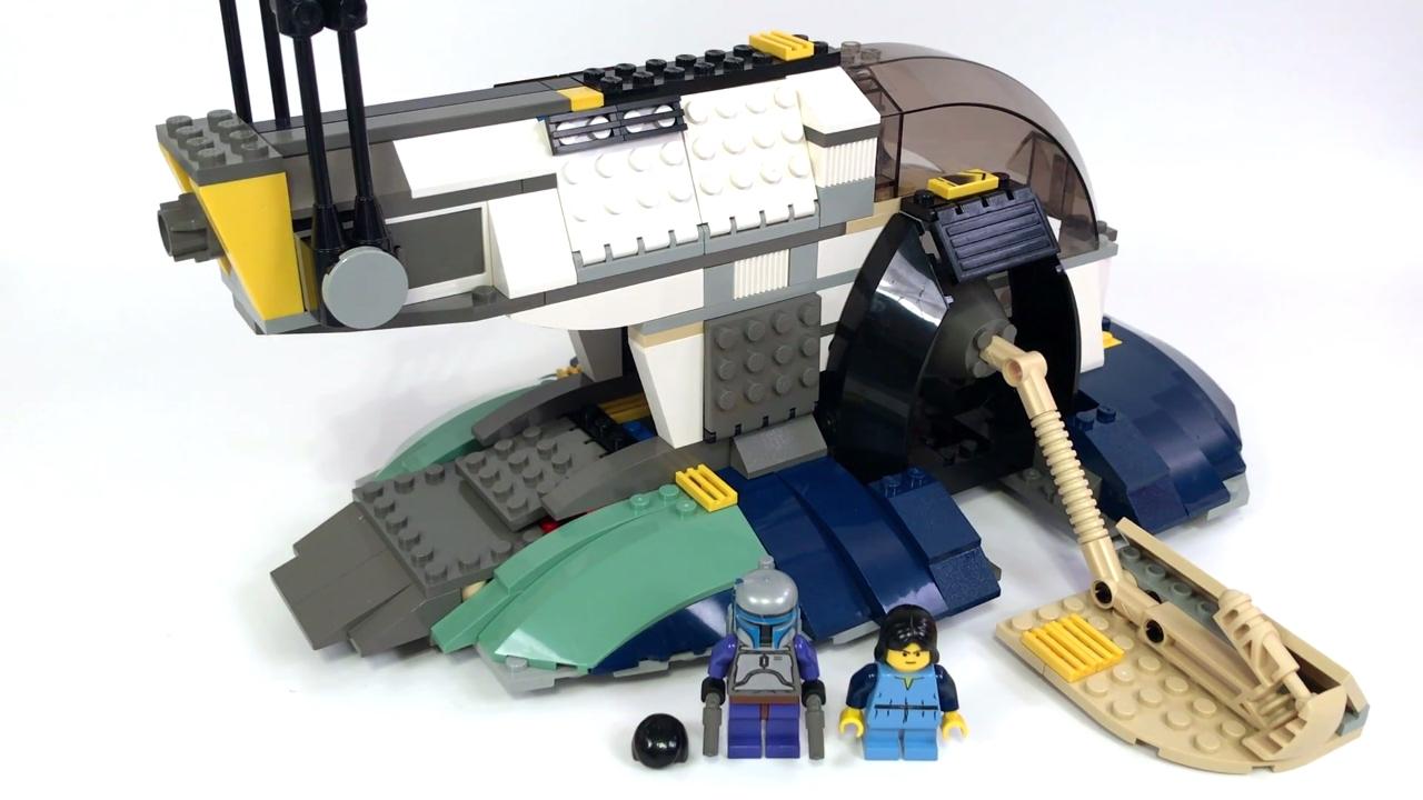 LEGO Star Wars 7153 JANGO FETT'S SLAVE 1 Review! (2002!)