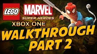 Lego Marvel Super Heroes: Walkthrough Part 2 - Xbox One HD Gameplay
