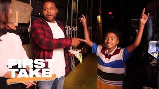 Molly Qerim tours ABC's Black-ish set with Miles Brown | First Take | ESPN