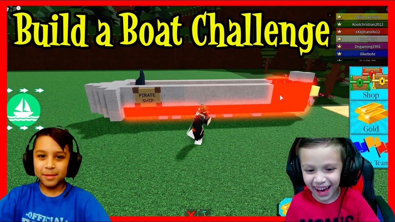 ROBLOX BUILD a BOAT CHALLENGE | DEION'S PLAYTIME