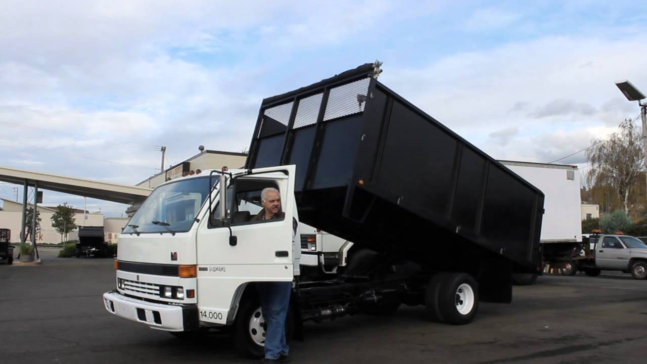 Exceptional Town And Country Truck #5970: 1994 ISUZU NPR 14 Ft. Flatbed Landscape Dump  Truck   YouTube