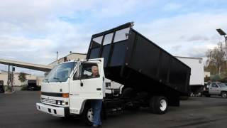 Town and Country Truck #5970: 1994 ISUZU NPR 14 Ft. Flatbed Landscape Dump Truck