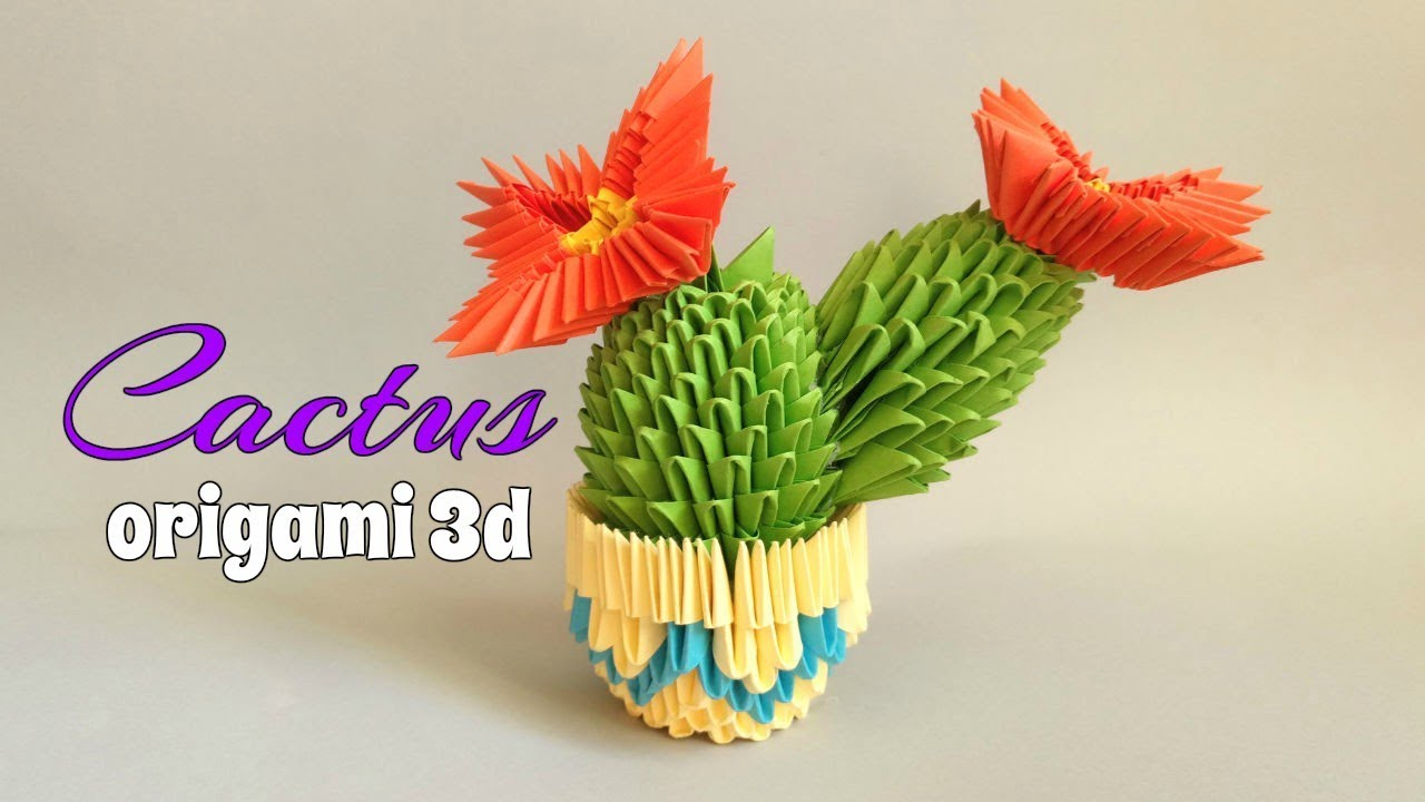 Cactus Origami en 3 d Maxresdefault